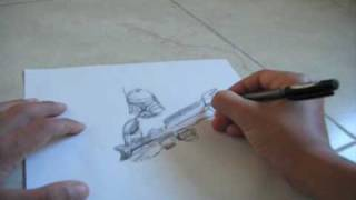 Commander Cody speed drawing