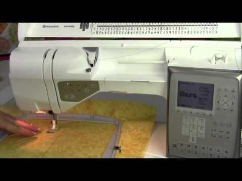 Husqvarna Viking Topaz 30 66 Embroidering a Design