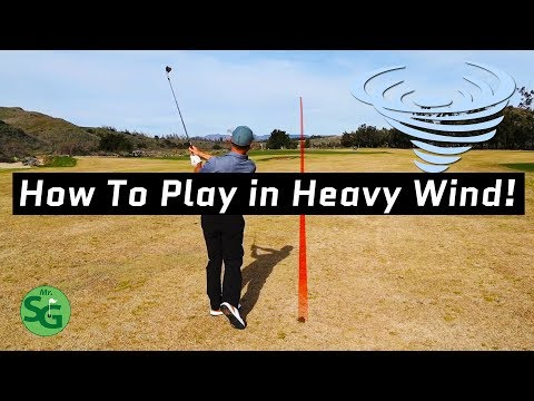 How to Play Golf in Heavy Wind! | Hit the Knock Down Shot!