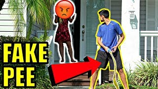 DING DONG DITCH AND PEE PRANK! **GONE WRONG+CHASED**