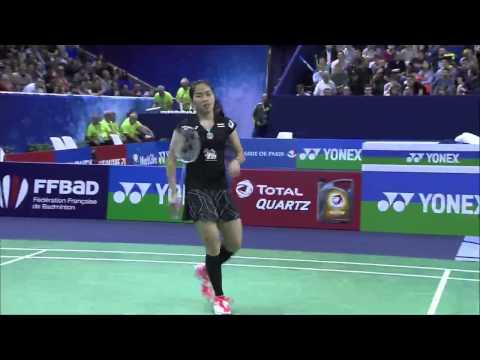 Yonex French Open 2015 | Badminton QF M2-WS | Saina Nehwal vs Ratchanok Intanon