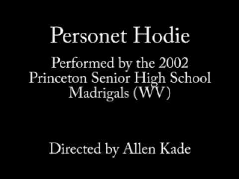Personet Hodie by the 2002 Princeton Senior High School Madrigals (Princeton, WV)