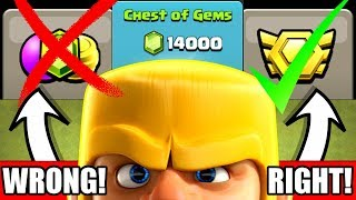 HOW TO SPEND MONEY CORRECTLY IN CLASH OF CLANS!!