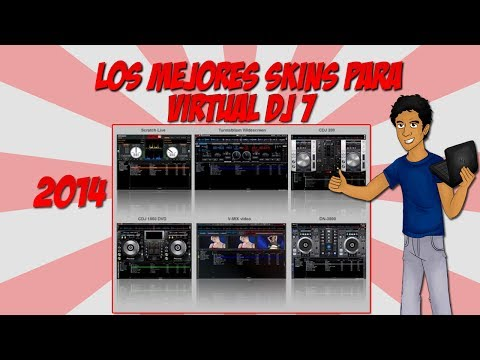 Como descargar e instalar Pack de SKINS para virtual dj 7 (2014)