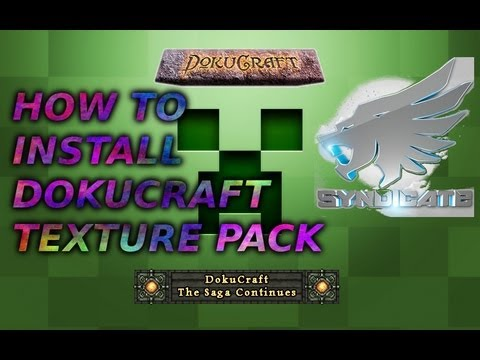Dokucraft - How to get syndicates texture pack in Minecraft - How to Install Tut