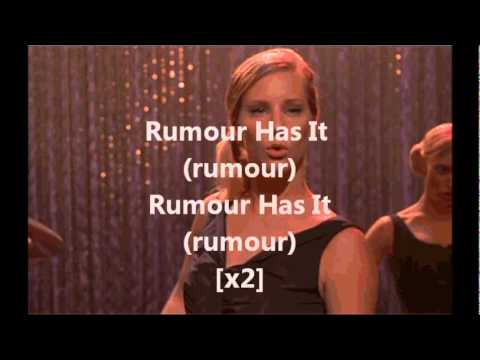 Glee Cast- Rumour Has It  Someone Like You (with Lyrics) video
