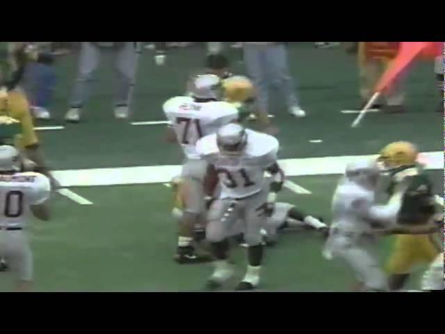 Big hit by Oregon safety Chad Cota on kickoff vs. WSU 9-07-1991