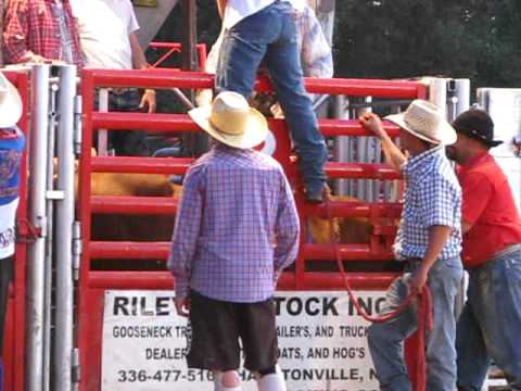 Stegall's Arena Open Bull Riding, JB Mauney - July 3, 2010 Video