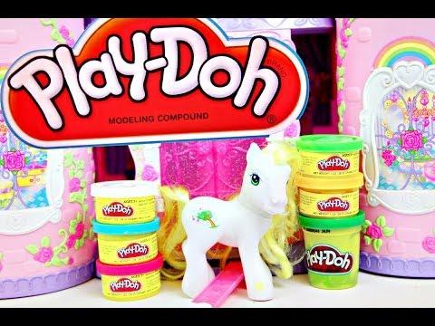 My Little Pony Play Doh Crystal Rainbow Castle video