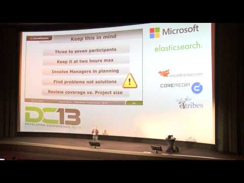 Frank Sons Code Reviews - Leave your ego at the door - Developer Conference 2013