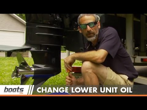 How To Change your Boat's Lower Unit Oil
