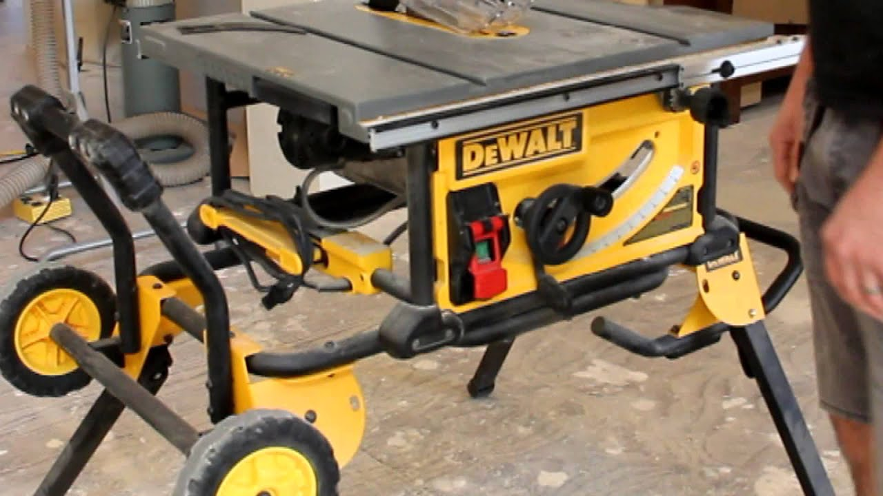 Dewalt Dwe7491rs Jobsite Table Saw Youtube