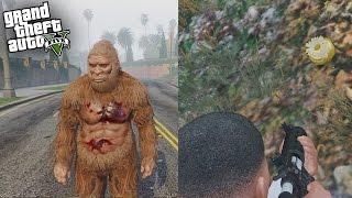 GTA 5 SECRET GOLDEN PEYOTE PLANT FOUND - HOW TO PLAY AS SASQUATCH! (GTA 5 Secret Bigfoot Peyote)