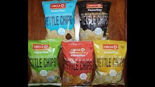 Circle K Potato Chips Sea Salt Vinegar, Sea Salt Pepper, Sour Cream & Onion, Barbecue, Original