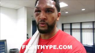 DOMINIC BREAZEALE IMMEDIATELY AFTER KO LOSS TO ANTHONY JOSHUA; TALKS LESSONS LEARNED IN FIRST LOSS