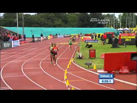 Women&#039;s 3000 m steeplechase Diamond League Aviva Birmingham Grand Prix 2011