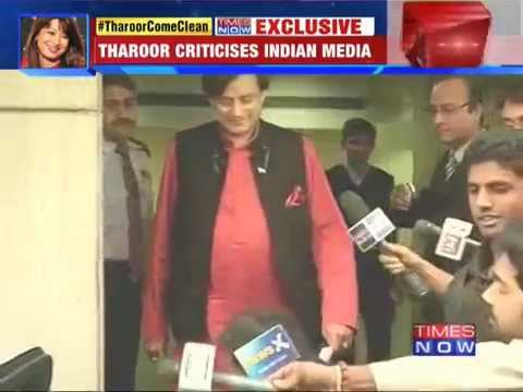 Shashi Tharoor Once Again Evades Questions On Sunanda Case