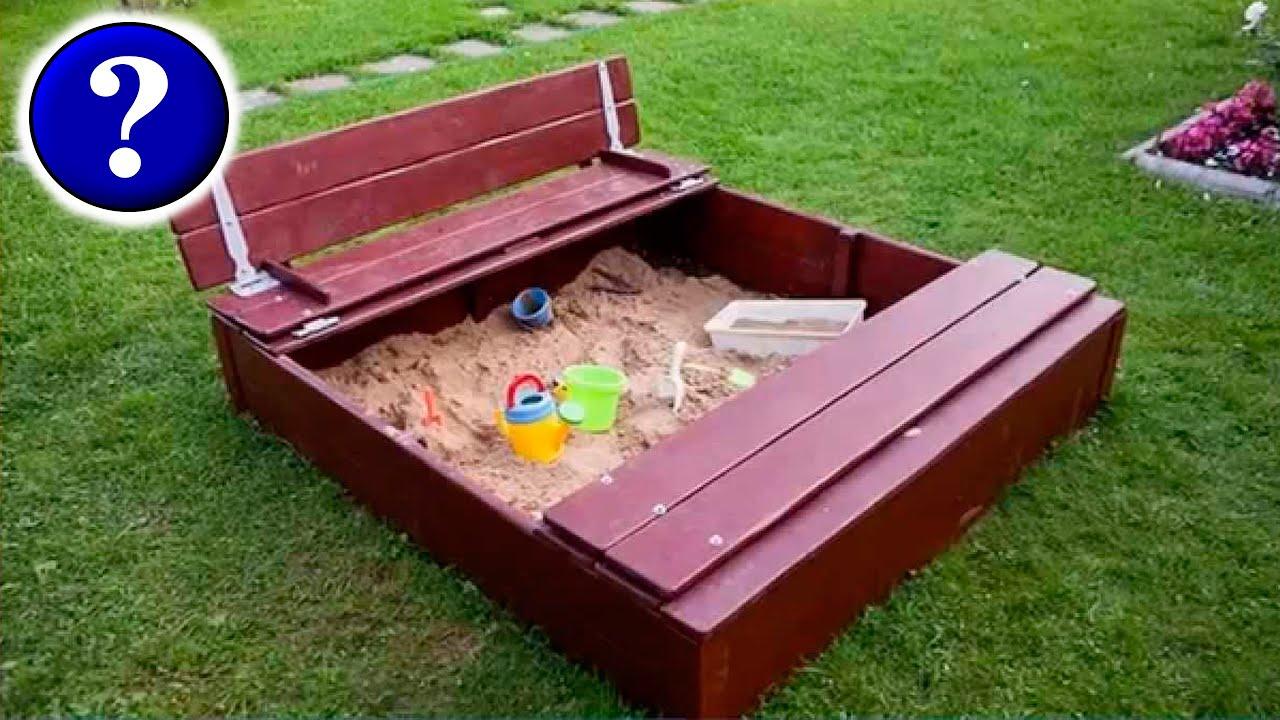 Песочница из дерева сделанная своими руками