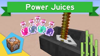 POWER JUICES in Vanilla Minecraft 1.11 | Power Juices Command Block Creation