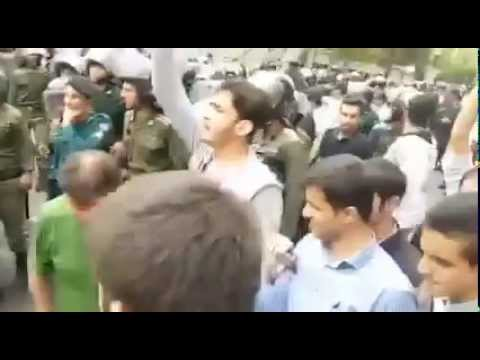 Racism in Iran: anti-Arab protest by Persian regime supporters