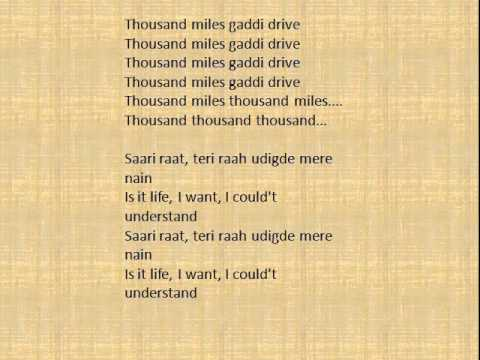 1000 miles song: