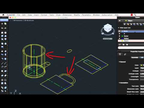 Convert 2D Objects to 3D Objects: AutoCAD 2013 for Mac