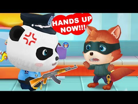 Little Panda Policeman - Fun Baby Panda Learn Safety Tips With Police Officer  Educational Kids Game