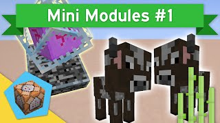 TWINS & CRYSTAL PLATES in Minecraft Vanilla 1.10+ | Mini Modules #1 Animal Twins & Crystal Bases