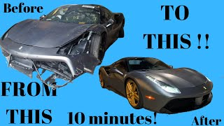 Ferrari 488 Rebuilt Damaged Wrecked From Auction in 10 MINUTES like THROTL