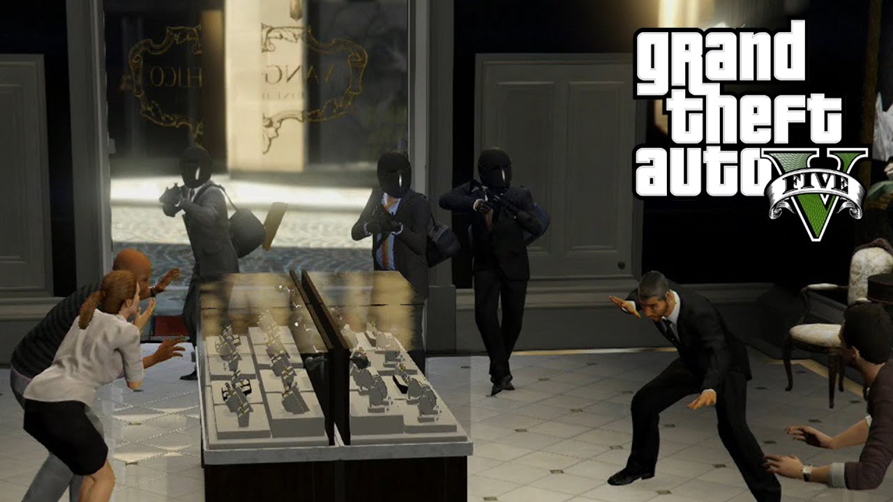 GTA 5 First Person Heist Jewelry Store PS4 Gameplay