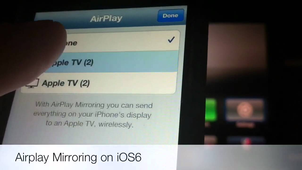 Iphone 5 airplay mirroring youtube for Mirror iphone to tv