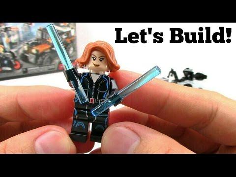 LEGO Captain America: Civil War Crossbone vs Black Widow and Falcon 76050 Let's Build!