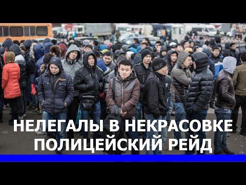 Нелегальные мигранты в Некрасовке. Рейд УВД ЮВАО