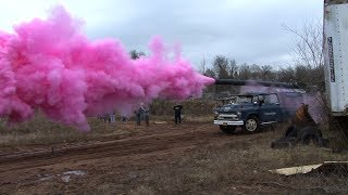 Crazy PUMPKIN CANNON Gender Reveal - It's a Girl