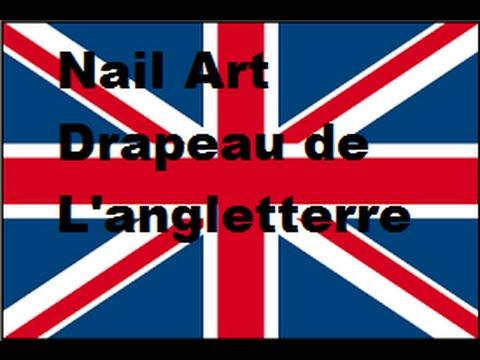 Nail art drapeau de l 39 angleterre youtube - Drapeau de l angleterre a colorier ...