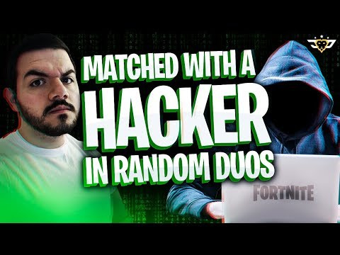 COURAGE MATCHED A HACKER IN RANDOM DUOS?! HIS SISTER ROASTED ME! (Fortnite: Battle Royale)