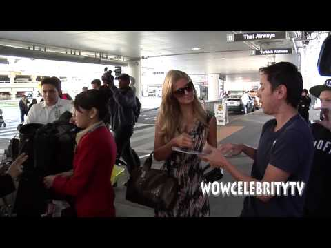 Paris Hilton spotted arriving at LAX Airport from Hong Kong
