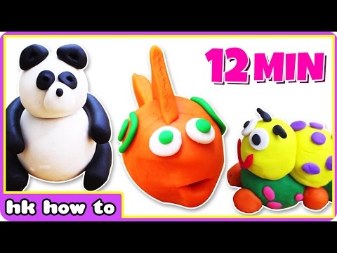 Play Doh Creations for the Creative Mind | Fun Play Doh videos by HooplaKidz How To