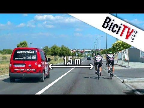 Cómo adelantar a un ciclista con seguridad
