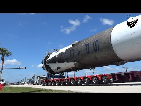 CRS8 Comes Home - SpaceX Falcon 9 Booster 04-19-2016