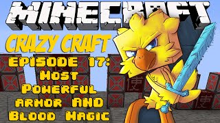 Minecraft Crazy Craft Episode 17: MOST POWERFUL ARMOR & BLOOD MAGIC