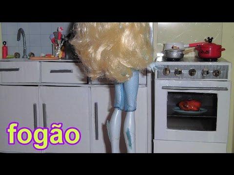 Como fazer um fogão para boneca Monster High. Pullip. Barbie e etc