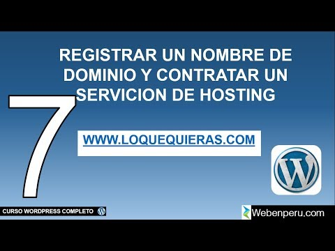 DOMINIO y HOSTING WORDPRESS webempresa 2018 Tutorial para principiantes