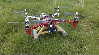 Raspberry Pi Quadcopter construction part 6 : ESC, motors, Ras-Pi A+, GPS, telemetry