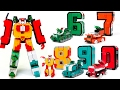 Number Robot 6 7 8 9 0 Transformers 5 Land Force armored unit Combine 5 Vehicle Robot Toys