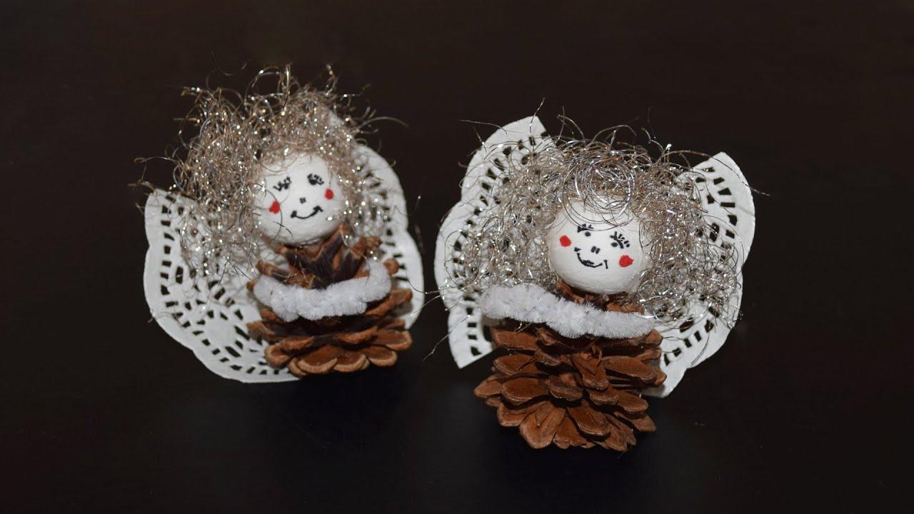 Engel aus zapfen basteln youtube for Weihnachtsdekoration basteln mit kindern