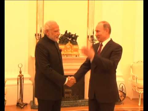 PM Modi meets Russian President Vladimir Putin