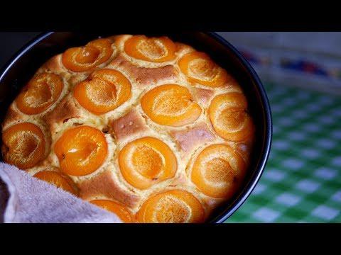 Нежнейший Абрикосовый Пирог на йогурте. Быстрый в приготовлении
