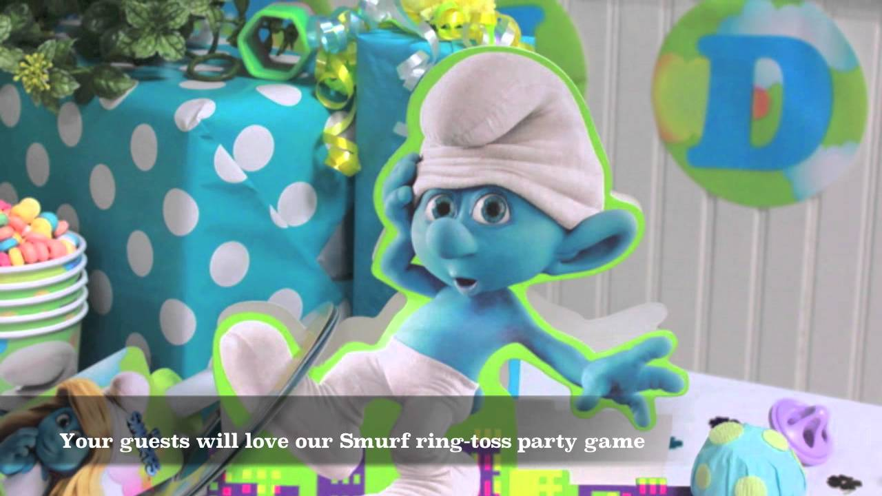 the smurfs party supplies youtube