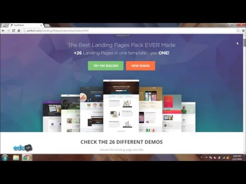 FLATPACK Landing Pages Pack With Page Builder Theme Demo | Download FLATPACK Theme